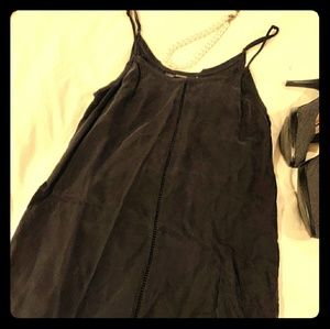 All Saints black silk slipdress 2